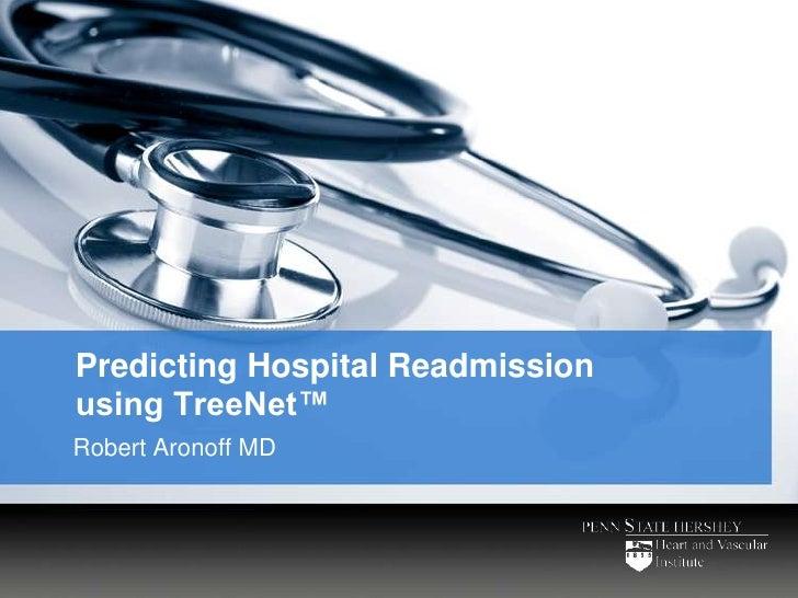 Predicting Hospital Readmission Using TreeNet