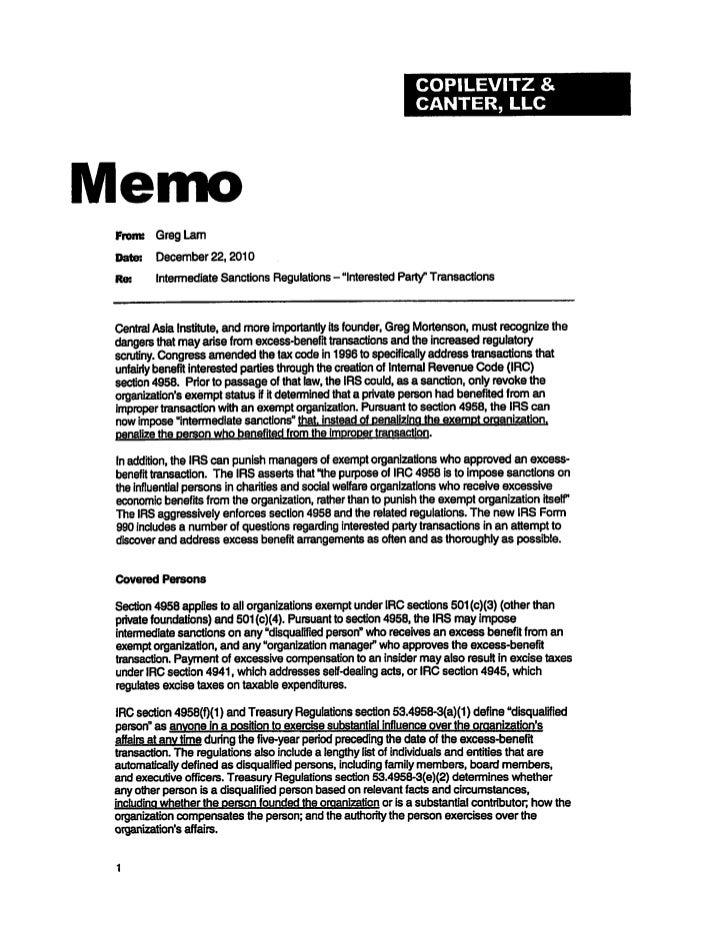 Excess benefit memo 12 22-2010