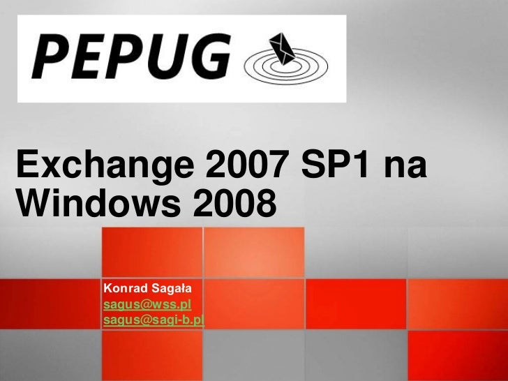 Exch2007 sp1 win2008