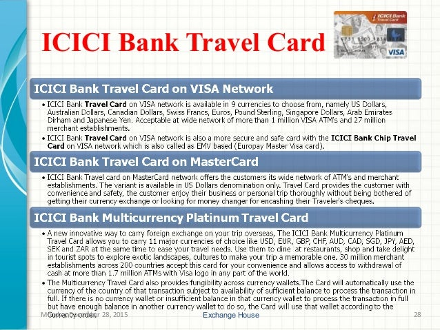 Icici forex card rates today