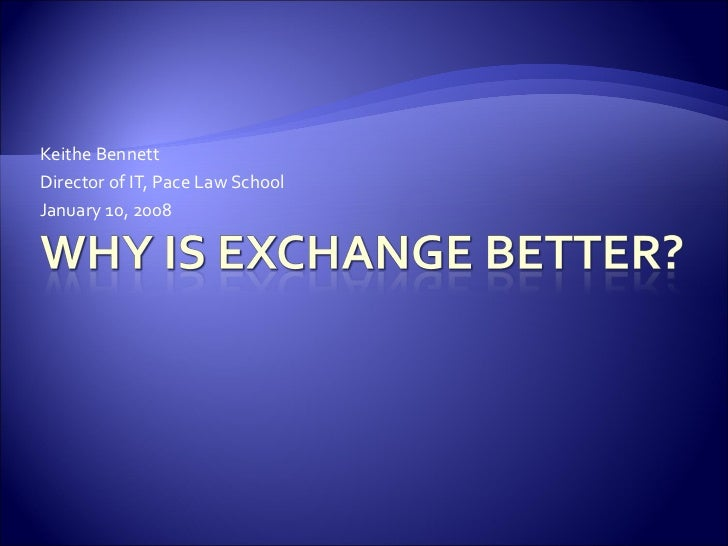 Exchange presentation