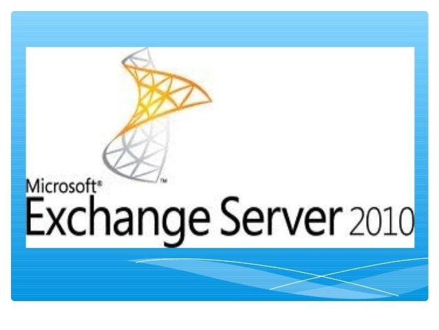 Exchange server 2010-EXPOSICION