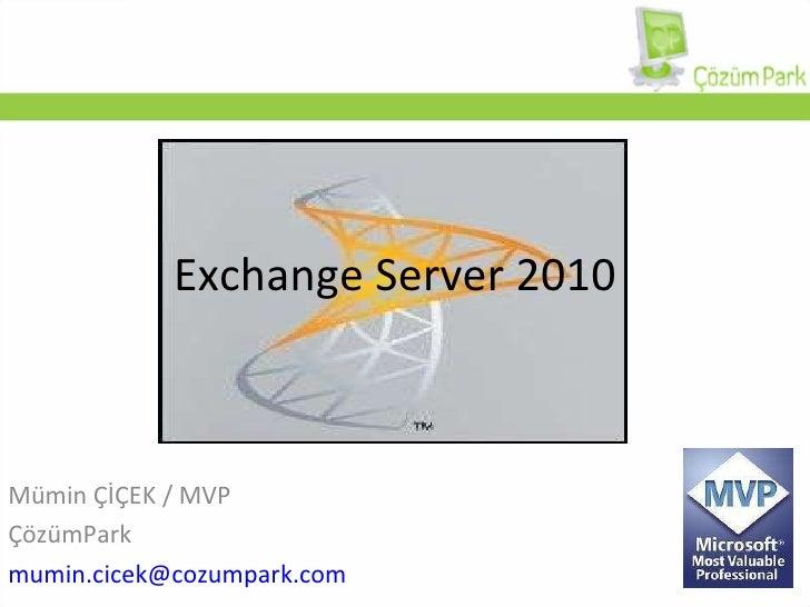 Microsoft Exchange Server 2010 Genel