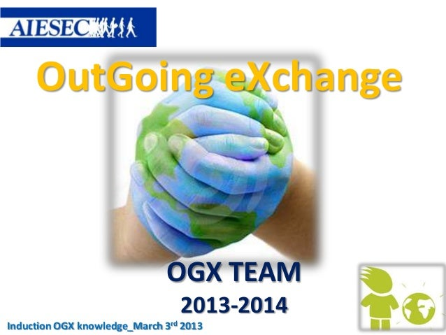 OutGoing eXchange                               OGX TEAM                                 2013-2014Induction OGX knowledge_...