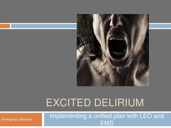 EXCITED DELIRIUMEmergency Services                     Implementing a unified plan with LEO and                           ...