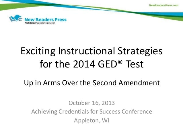 Exciting Strategies for 2014 GED Test Prep: Up In Arms