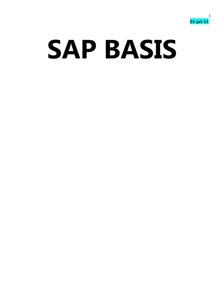 Exclusive SAP Basis Training Book | www.sapdocs.info
