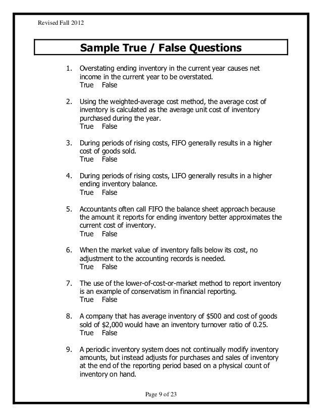 True Or False Questions 19490 | RIMEDIA