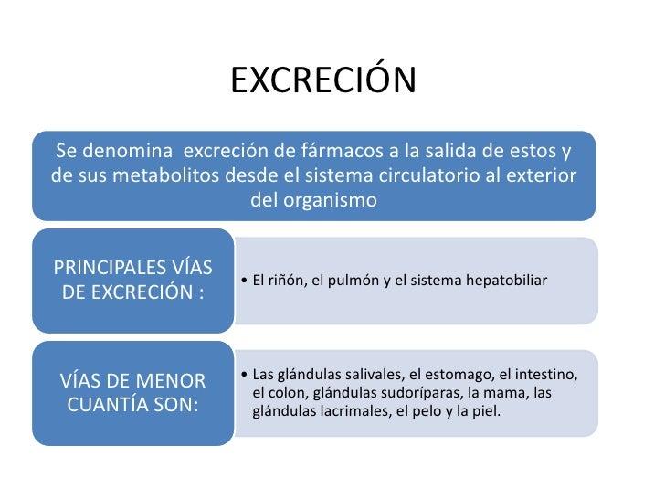 Excreción renal de farmacos