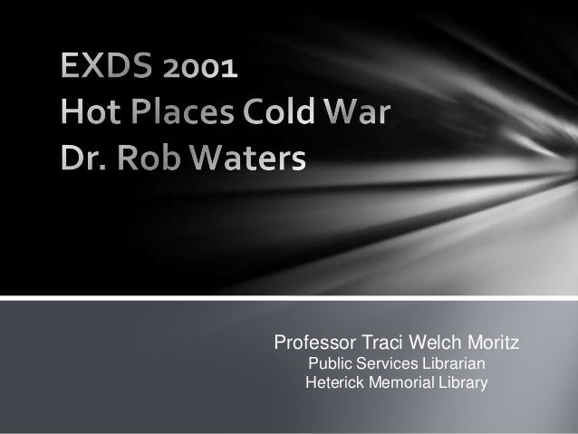 Exds 2001 hot places cold war