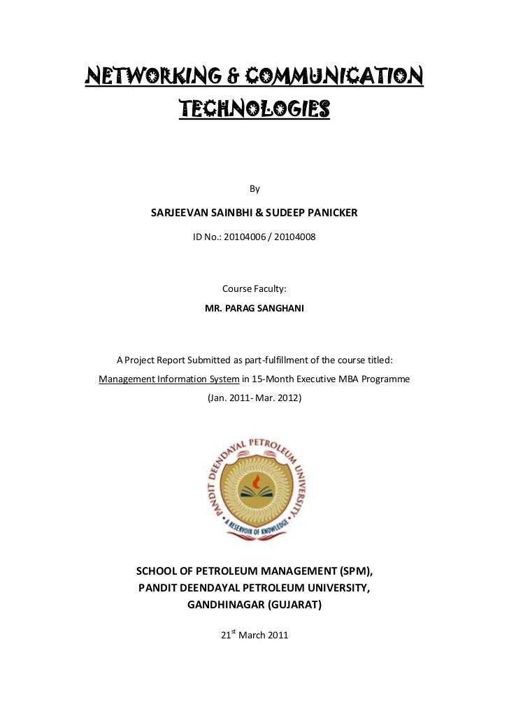 NETWORKING & COMMUNICATION                   TECHNOLOGIES                                    By            SARJEEVAN SAINB...