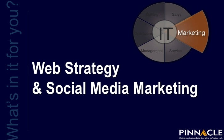 What's in it for you?<br />Web Strategy & Social Media Marketing <br />Sales<br />Staffing<br />IT<br />Marketing<br />Ope...