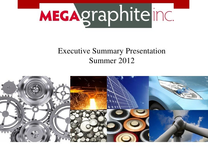 Executive Summary Presentation         Summer 2012