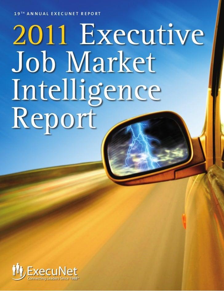 Executive Job Market Intelligence Report 2011