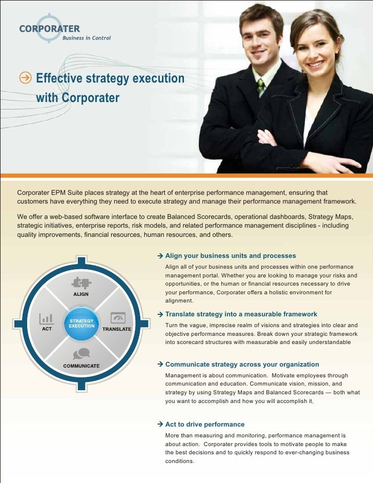 Execute strategy-with-corporater