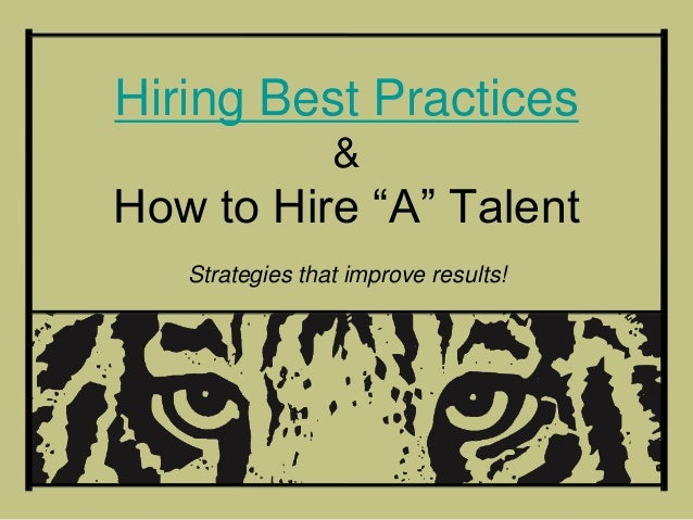 Executive recruting hiring best practices