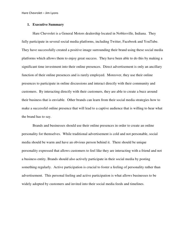 Executive Summary Essay