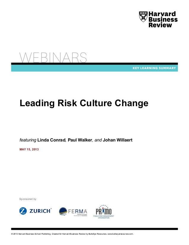 Executive Summary on Leadership in Risk Management Webinar