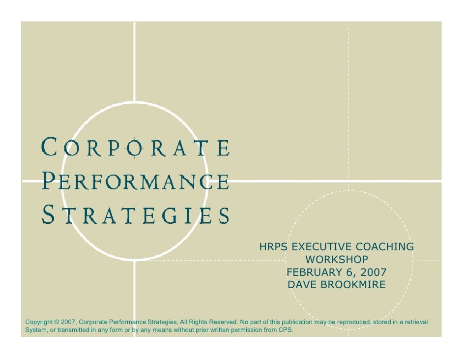 HRPS EXECUTIVE COACHING                                                                                         WORKSHOP  ...