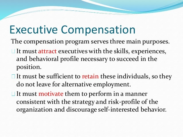 Stock options management compensation