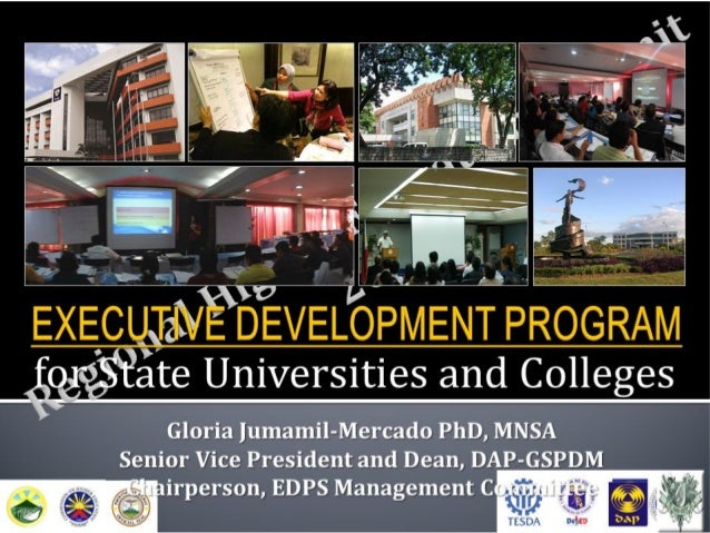 Executive development program for state universities and colleges