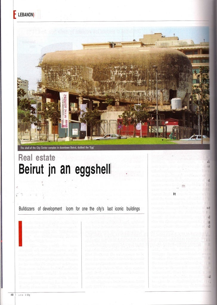 LEBANON)         Real estate                                                                       center, mOVIe theater. ...