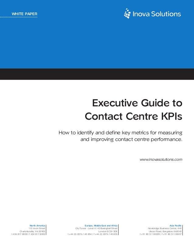 Executive guide to contact center kpi's