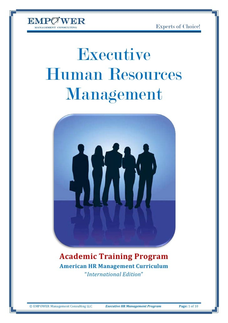 Experts of Choice!                Executive         Human Resources           Management                     Academic Trai...