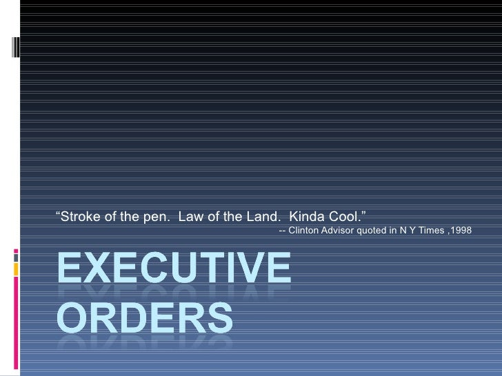 Executive Order Lecture by Cynthia Farina