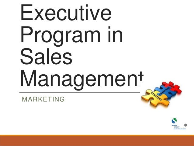 Executive program in sales management final