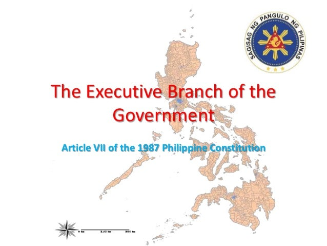The Executive Branch of the       Government Article VII of the 1987 Philippine Constitution