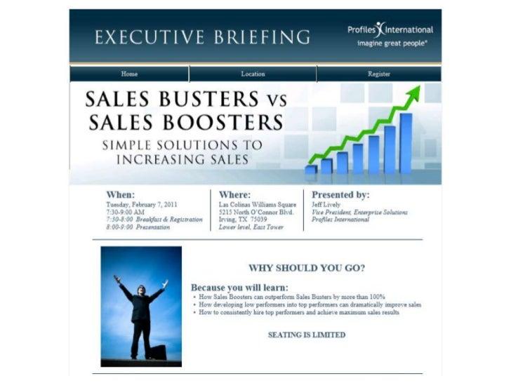 Executive Sales Briefing Brochure