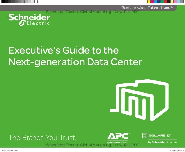 Executive's Guide to the Next-generation Data Center The Brands You Trust. ^ Business-wise, Future-driven.TM Schneider Ele...