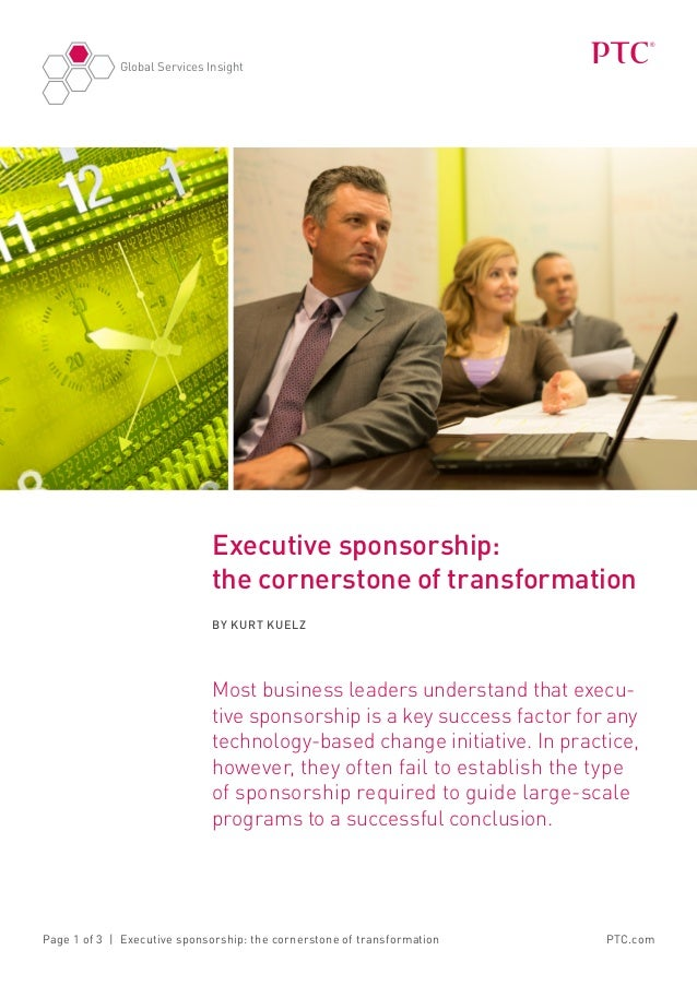 Executive sponsorship: the cornerstone of transformation