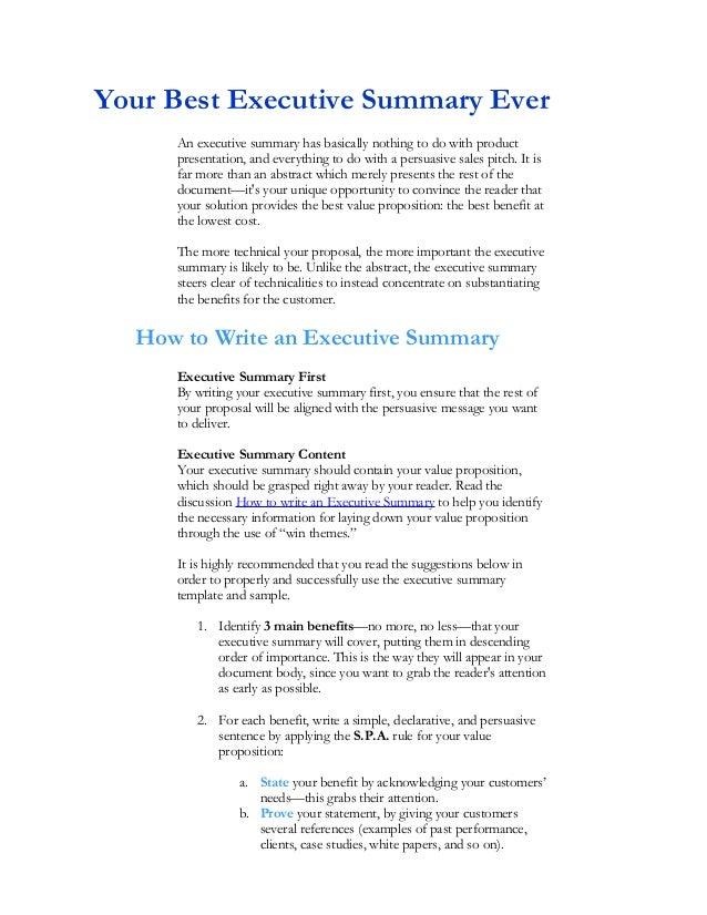 Abstract Executive Summary Dissertation