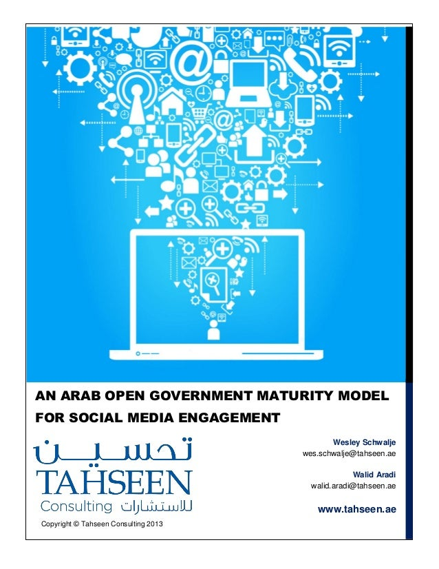 An Arab Open Government Maturity Model for Social Media Engagement