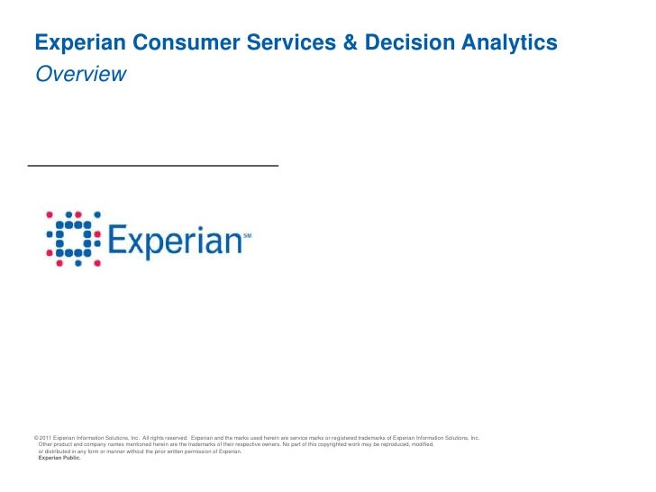 Experian Consumer Services & Decision AnalyticsOverview<br />