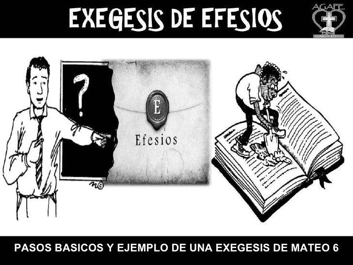 Pasos basicos y ejemplo de una exegesis