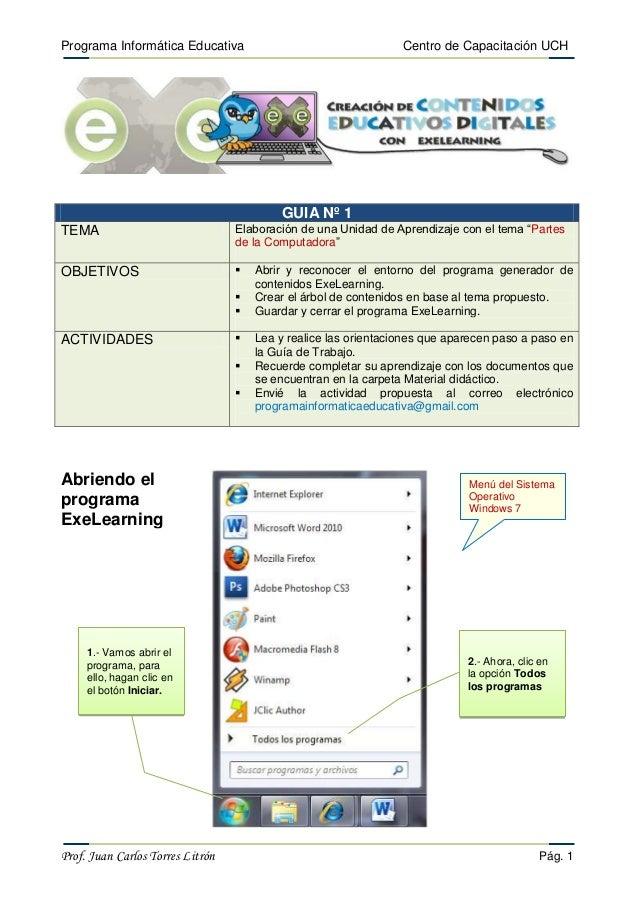 Programa Informática Educativa                                   Centro de Capacitación UCH                               ...