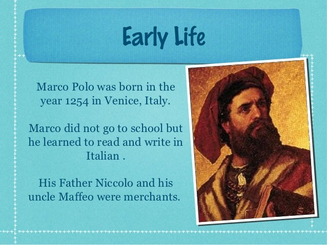 a biography of marco polo Marco polo is a medieval era great merchant in civilization vi unique ability grants a free trader unit in this city, and increases trade route capacity by 1.