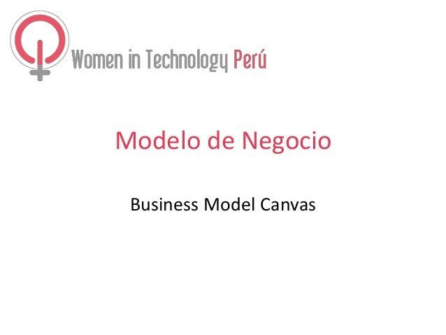 Modelo de Negocio Business Model Canvas