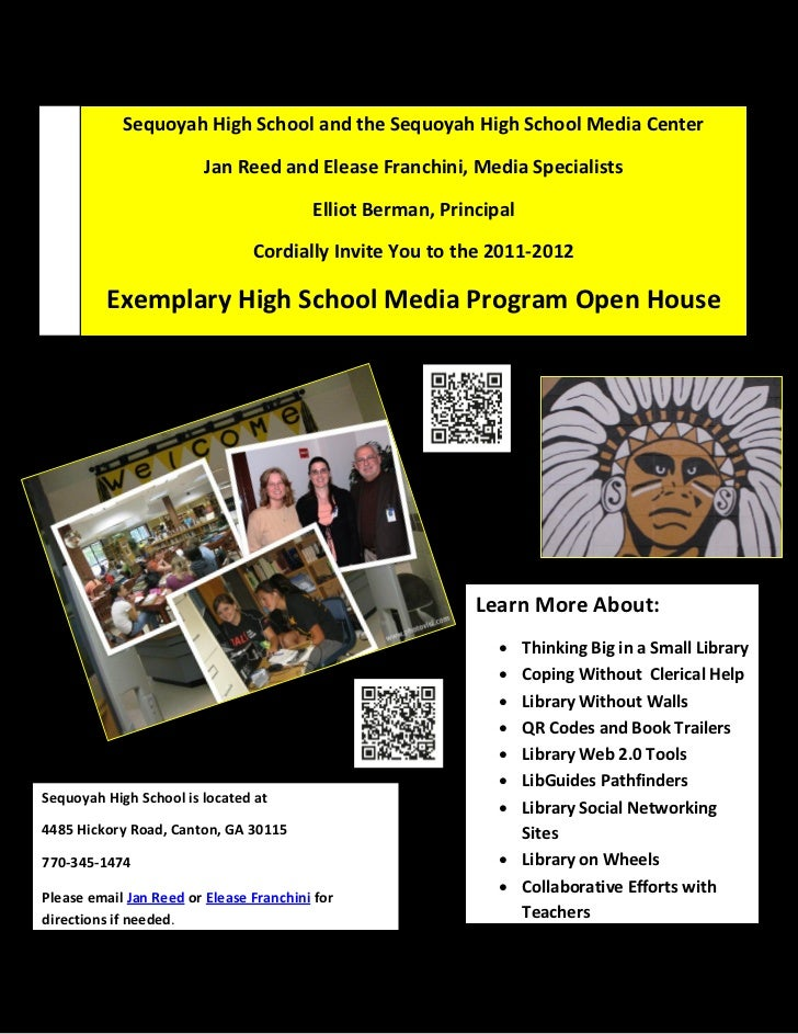 Sequoyah High School and the Sequoyah High School Media Center                         Jan Reed and Elease Franchini, Medi...