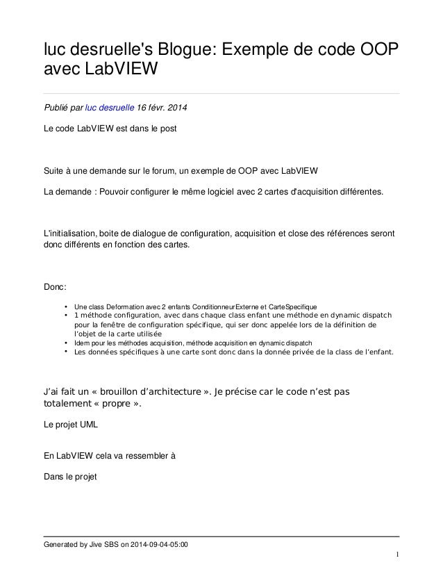 luc desruelle's Blogue: Exemple de code OOP  avec LabVIEW  Generated by Jive SBS on 2014-09-04-05:00  1  Publié par luc de...