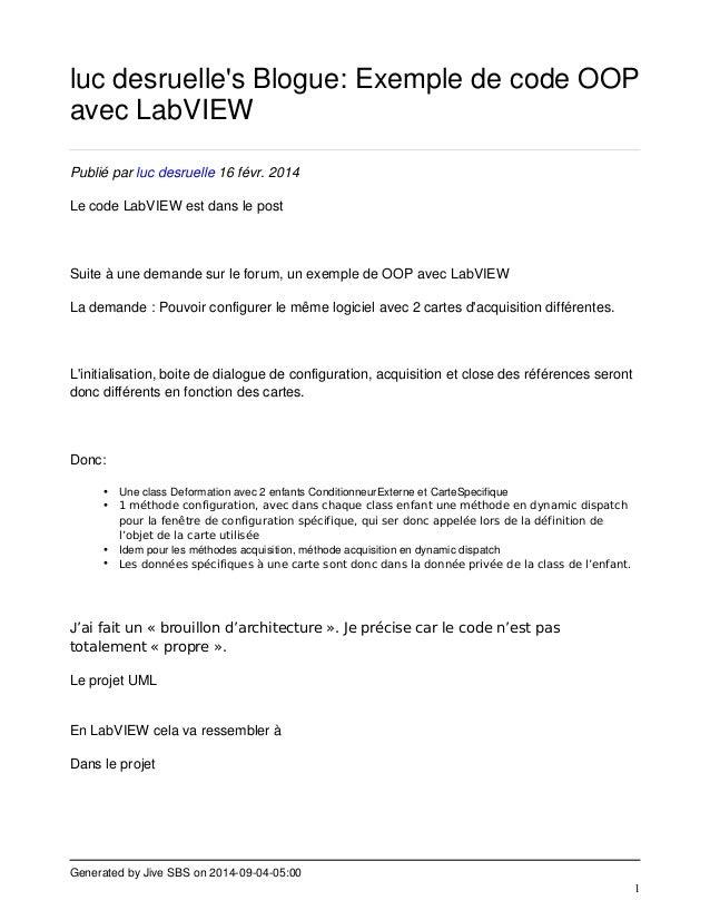 luc desruelle's Blogue: Exemple de code OOP  avec LabVIEW  Generated by Jive SBS on 2014-09-04-05:00  1  Publié par luc de...