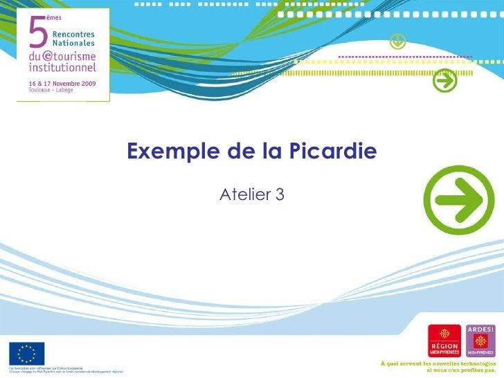 Exemple de la Picardie Atelier 3