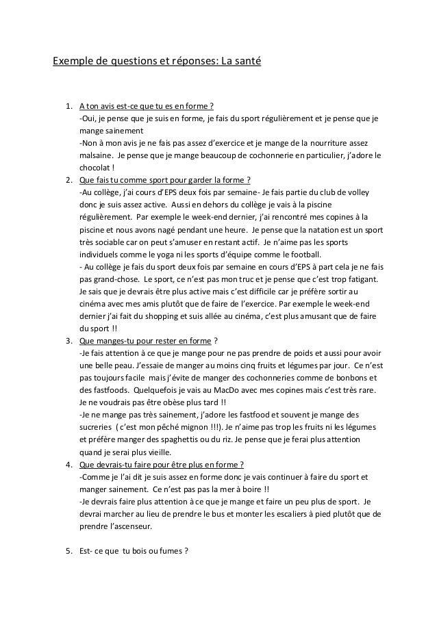 Questions et r