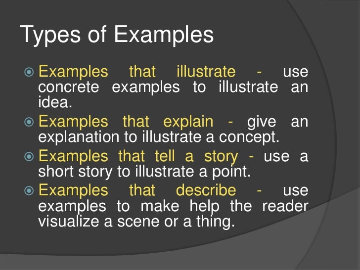 example of an exemplification essay A roadmap that reveals how to write an exemplification essay that will be accepted in all academic fields by professionals in academic essay writing.