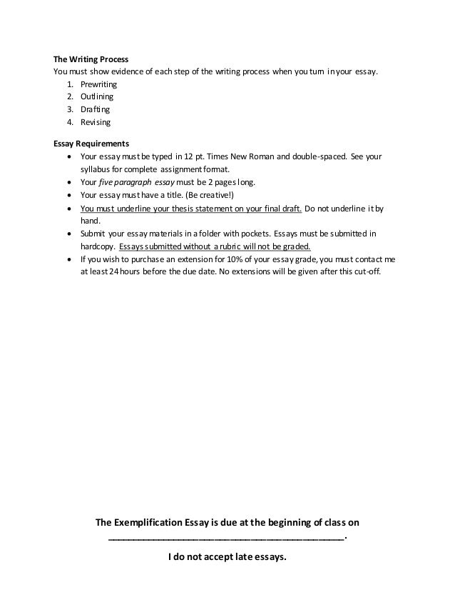 writing exemplification essays In this lesson, we will explore the components of the exemplification essay and how it uses specific examples in order to try and convince your.