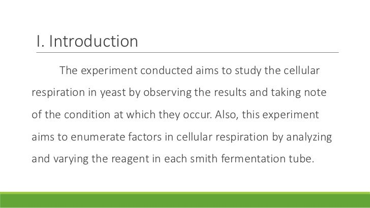 lab report on yeast alcoholic fermentation