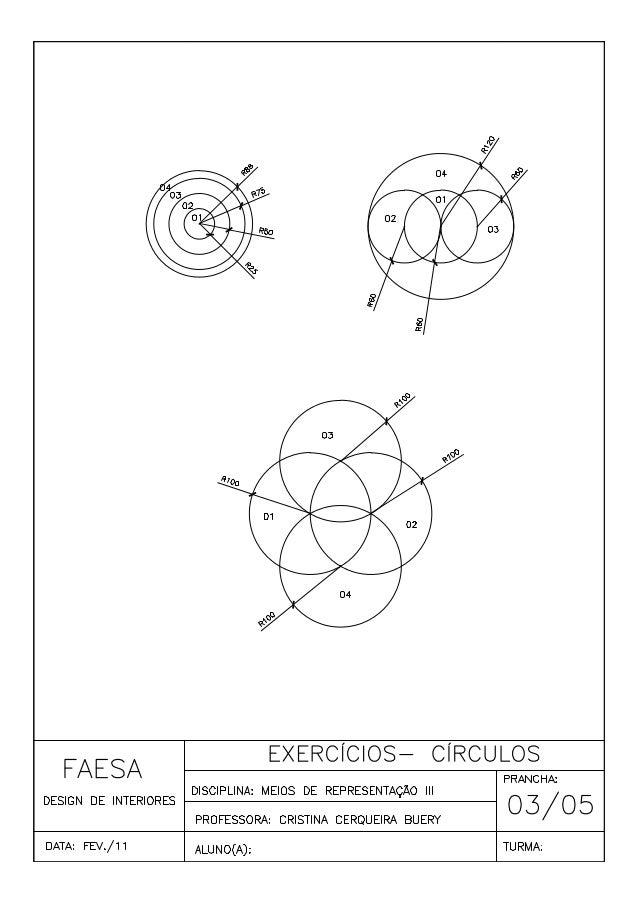 Exercícios de  cad 03